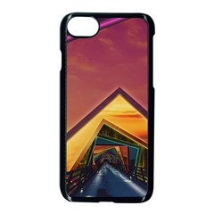 The Rainbow Bridge Of A Thousand Fractal Colors Apple Iphone 7 Seamless Case (black) by jayaprime