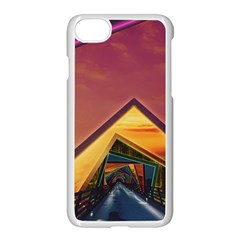 The Rainbow Bridge Of A Thousand Fractal Colors Apple Iphone 7 Seamless Case (white) by jayaprime