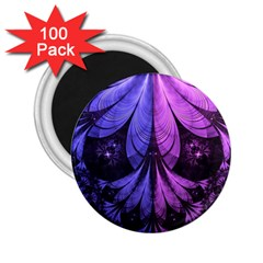 Beautiful Lilac Fractal Feathers Of The Starling 2 25  Magnets (100 Pack)  by jayaprime
