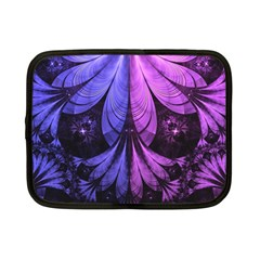 Beautiful Lilac Fractal Feathers Of The Starling Netbook Case (small)  by jayaprime