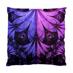 Beautiful Lilac Fractal Feathers Of The Starling Standard Cushion Case (one Side) by jayaprime