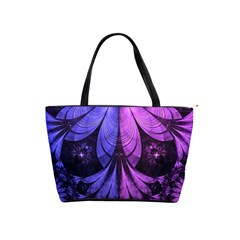 Beautiful Lilac Fractal Feathers Of The Starling Shoulder Handbags by jayaprime
