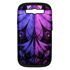 Beautiful Lilac Fractal Feathers Of The Starling Samsung Galaxy S Iii Hardshell Case (pc+silicone) by jayaprime