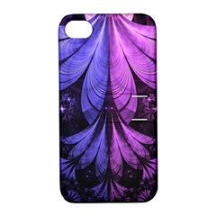 Beautiful Lilac Fractal Feathers Of The Starling Apple Iphone 4/4s Hardshell Case With Stand by beautifulfractals