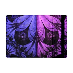 Beautiful Lilac Fractal Feathers Of The Starling Ipad Mini 2 Flip Cases by jayaprime