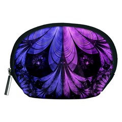 Beautiful Lilac Fractal Feathers Of The Starling Accessory Pouches (medium)  by jayaprime