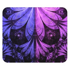 Beautiful Lilac Fractal Feathers Of The Starling Double Sided Flano Blanket (small)  by beautifulfractals