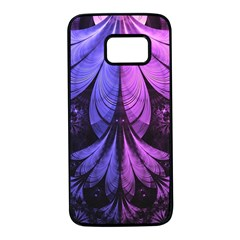 Beautiful Lilac Fractal Feathers Of The Starling Samsung Galaxy S7 Black Seamless Case by beautifulfractals