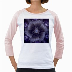 Amazing Fractal Triskelion Purple Passion Flower Girly Raglans by jayaprime