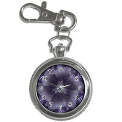 Amazing Fractal Triskelion Purple Passion Flower Key Chain Watches by beautifulfractals