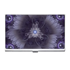 Amazing Fractal Triskelion Purple Passion Flower Business Card Holders by jayaprime