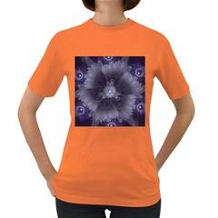 Amazing Fractal Triskelion Purple Passion Flower Women s Dark T Shirt by beautifulfractals