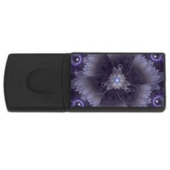 Amazing Fractal Triskelion Purple Passion Flower Usb Flash Drive Rectangular (4 Gb) by beautifulfractals