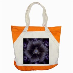 Amazing Fractal Triskelion Purple Passion Flower Accent Tote Bag by jayaprime