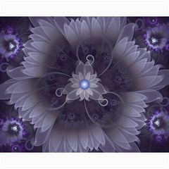 Amazing Fractal Triskelion Purple Passion Flower Canvas 8  X 10  by jayaprime