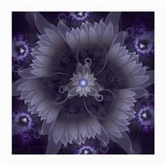 Amazing Fractal Triskelion Purple Passion Flower Medium Glasses Cloth (2 Side) by jayaprime