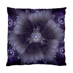 Amazing Fractal Triskelion Purple Passion Flower Standard Cushion Case (two Sides) by jayaprime