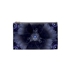 Amazing Fractal Triskelion Purple Passion Flower Cosmetic Bag (small)  by jayaprime