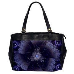 Amazing Fractal Triskelion Purple Passion Flower Office Handbags by jayaprime