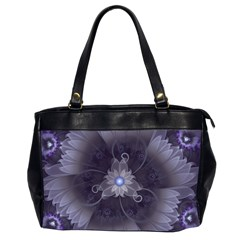 Amazing Fractal Triskelion Purple Passion Flower Office Handbags (2 Sides)  by jayaprime
