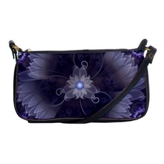 Amazing Fractal Triskelion Purple Passion Flower Shoulder Clutch Bags by beautifulfractals
