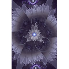 Amazing Fractal Triskelion Purple Passion Flower 5 5  X 8 5  Notebooks by jayaprime