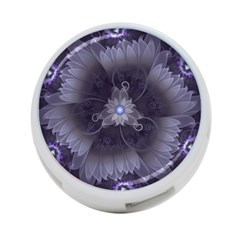 Amazing Fractal Triskelion Purple Passion Flower 4 Port Usb Hub (one Side) by jayaprime