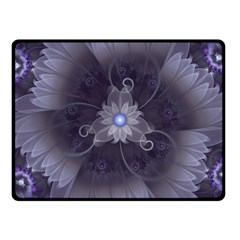 Amazing Fractal Triskelion Purple Passion Flower Fleece Blanket (small) by jayaprime