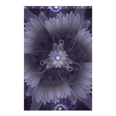 Amazing Fractal Triskelion Purple Passion Flower Shower Curtain 48  X 72  (small)  by jayaprime