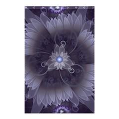 Amazing Fractal Triskelion Purple Passion Flower Shower Curtain 48  X 72  (small)  by jayaprime