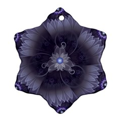 Amazing Fractal Triskelion Purple Passion Flower Ornament (snowflake) by jayaprime