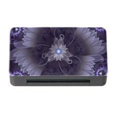 Amazing Fractal Triskelion Purple Passion Flower Memory Card Reader With Cf by jayaprime
