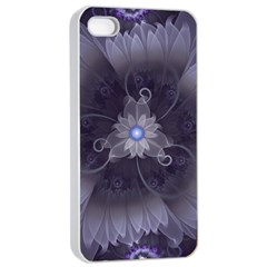 Amazing Fractal Triskelion Purple Passion Flower Apple Iphone 4/4s Seamless Case (white) by beautifulfractals