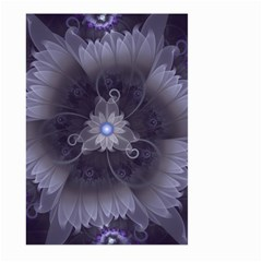 Amazing Fractal Triskelion Purple Passion Flower Large Garden Flag (two Sides) by jayaprime