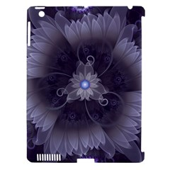 Amazing Fractal Triskelion Purple Passion Flower Apple Ipad 3/4 Hardshell Case (compatible With Smart Cover) by jayaprime