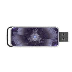 Amazing Fractal Triskelion Purple Passion Flower Portable Usb Flash (two Sides) by beautifulfractals