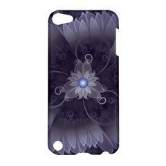 Amazing Fractal Triskelion Purple Passion Flower Apple Ipod Touch 5 Hardshell Case by jayaprime