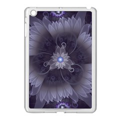 Amazing Fractal Triskelion Purple Passion Flower Apple Ipad Mini Case (white) by jayaprime