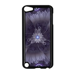 Amazing Fractal Triskelion Purple Passion Flower Apple Ipod Touch 5 Case (black) by jayaprime
