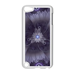 Amazing Fractal Triskelion Purple Passion Flower Apple Ipod Touch 5 Case (white) by jayaprime