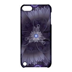 Amazing Fractal Triskelion Purple Passion Flower Apple Ipod Touch 5 Hardshell Case With Stand by jayaprime