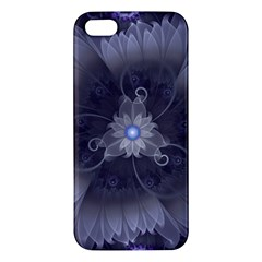 Amazing Fractal Triskelion Purple Passion Flower Apple Iphone 5 Premium Hardshell Case by jayaprime