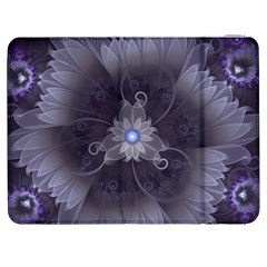 Amazing Fractal Triskelion Purple Passion Flower Samsung Galaxy Tab 7  P1000 Flip Case by jayaprime