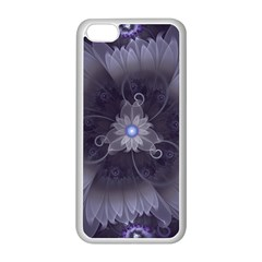Amazing Fractal Triskelion Purple Passion Flower Apple Iphone 5c Seamless Case (white) by jayaprime