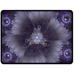 Amazing Fractal Triskelion Purple Passion Flower Double Sided Fleece Blanket (large)  by beautifulfractals