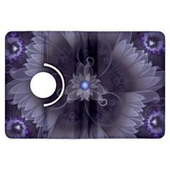 Amazing Fractal Triskelion Purple Passion Flower Kindle Fire Hdx Flip 360 Case by beautifulfractals