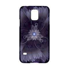 Amazing Fractal Triskelion Purple Passion Flower Samsung Galaxy S5 Hardshell Case  by jayaprime