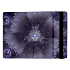 Amazing Fractal Triskelion Purple Passion Flower Samsung Galaxy Tab Pro 12 2  Flip Case by beautifulfractals