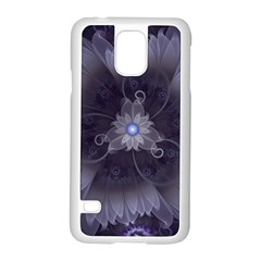Amazing Fractal Triskelion Purple Passion Flower Samsung Galaxy S5 Case (white) by jayaprime