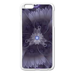 Amazing Fractal Triskelion Purple Passion Flower Apple Iphone 6 Plus/6s Plus Enamel White Case by beautifulfractals
